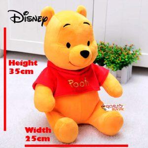Winnie the Pooh Plush stuffed toy, medium size, imported - height 35cm - width 25cm